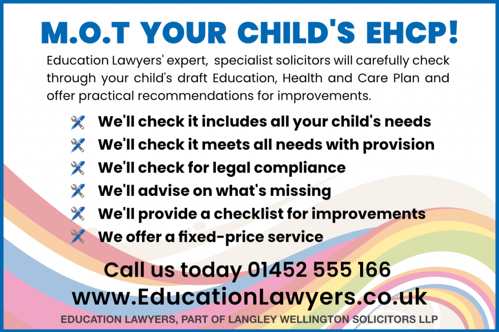 M.O.T Your child's EHCP