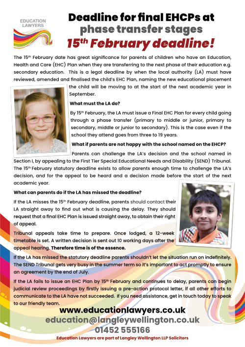 15th February transition leaflet