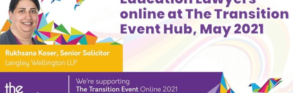 Education Lawyers online at The Transition Event Hub May 2021